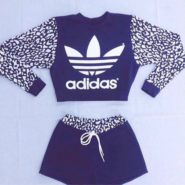 2f7eedb4b385 sweater adidas shorts jumper sportswear set dress skirt black and white  pajamas sportswear tracksuit shoes.
