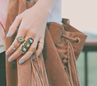 jewels ring eyes chevron rings knuckle ring gypsy festival fashion hippie eye jewelry boho bohemian purse girl