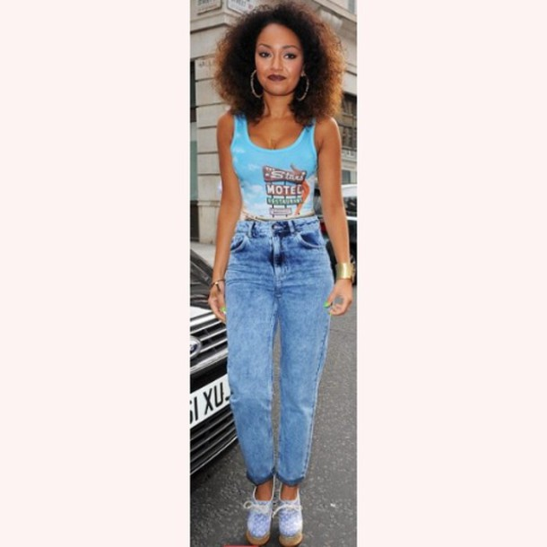 Jeans: high waisted jeans, 90s style, dark blue, boyfriend jeans ...