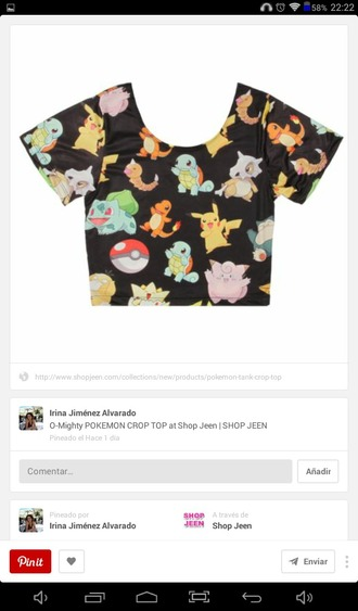 top crop tops pokemon pokemon t-shirt pokemon top tshirt. pokemon tshirt pokemon crop tops