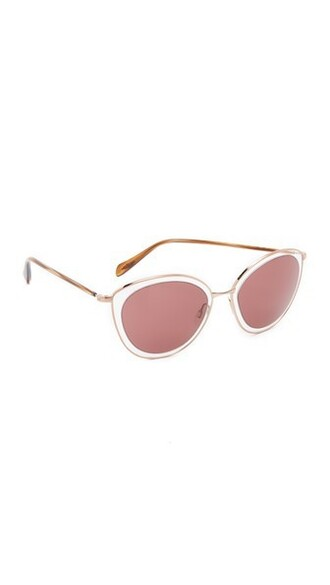 rose gold rose clear sunglasses gold
