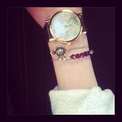jewels,watch,map watch,map print,cute,girly,adventures,fashion,bracelets,pretty,map,gold watch,vintage watch,retro watch,grunge,soft grunge,pastel,pastel grunge,turtle,jewelry,jewelery,turtle bracelet,purple,purple bracelet
