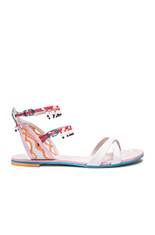 shoes,white,white sandals,sandals,flat sandals,multicolor
