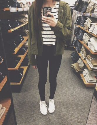 home accessory jacket clothes green jacket jeans black skinny jeans jeggings leggings converse top shirt military style green tumblr army green army green jacket girl woma tumblr style tumblr outfit tumblr clothes shoes stripes grunge tumblr girl grunge girl coat camouflage blouse