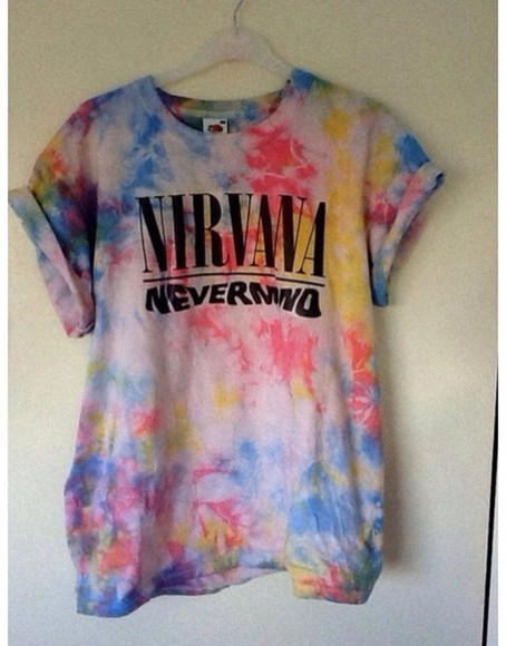 colorful t-shirt summerlife nirvana