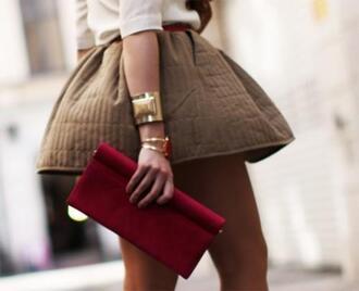 skirt brown mini skirt