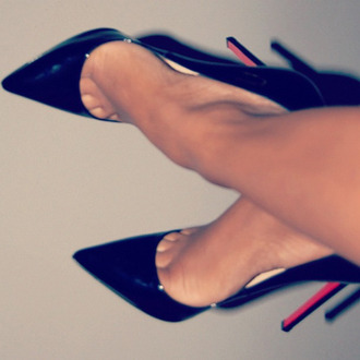 shoes stilettos high heels black shoes