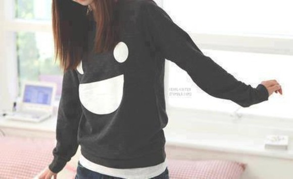 smiley face sweater smile print