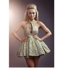 Miss Francesca Couture Amanda Dress in Gold