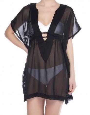 Black caftan dress beach dress cover up women by senoaccessory