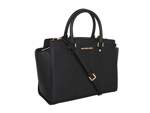 MICHAEL Michael Kors Selma Large TZ Satchel Black - Zappos.com Free Shipping BOTH Ways