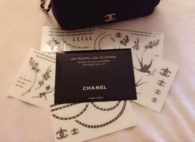 CHANEL TEMPORARY ARTS/TATTOOS Les Trompe Loeil De Chanel 55 DESIGN WITH GIFT!!