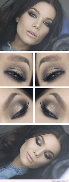make-up linda hallberg brown eyes make-up glitter