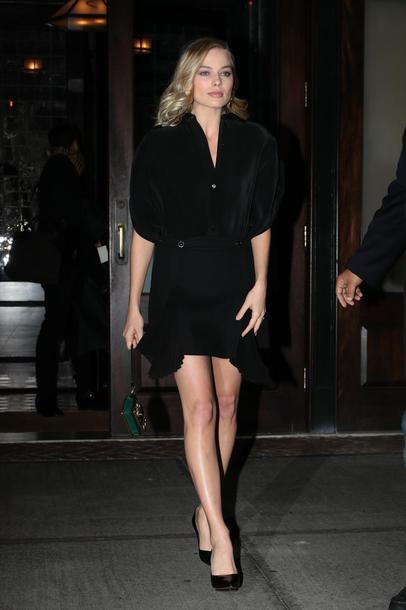 dress pumps margot robbie little black dress mini dress