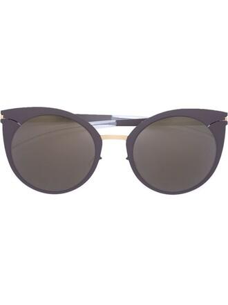 women sunglasses grey metallic