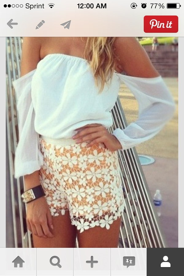 blouse clothes shirt shorts jewels