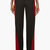 maison martin margiela black and oxblood colorblocked mohair trousers