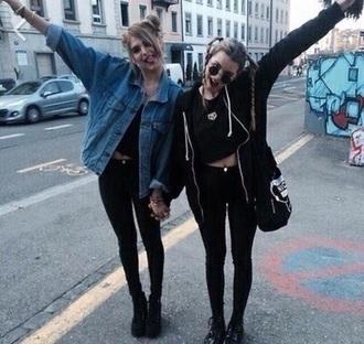jacket jacke denim hipster all black everything asos grunge