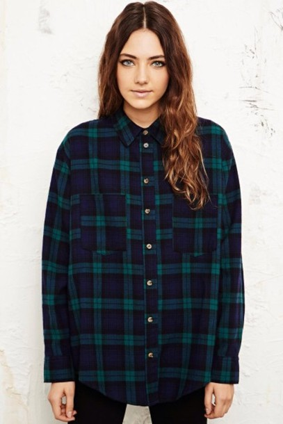 Shirt flannel green dark green vintage blue dark for Green and black plaid flannel shirt