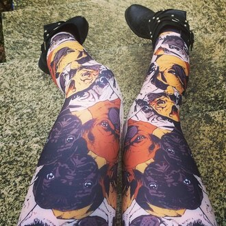 leggings pugs printed leggings tights dog top fusion stairs shoes selfshot black shoes print funny leggings hipster style clothes dasd