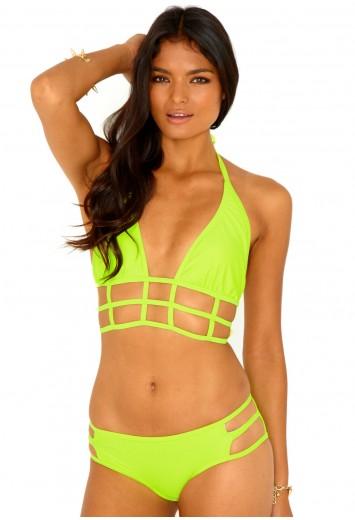 Marquise Halterneck Caged Bikini Swimwear Bikinis