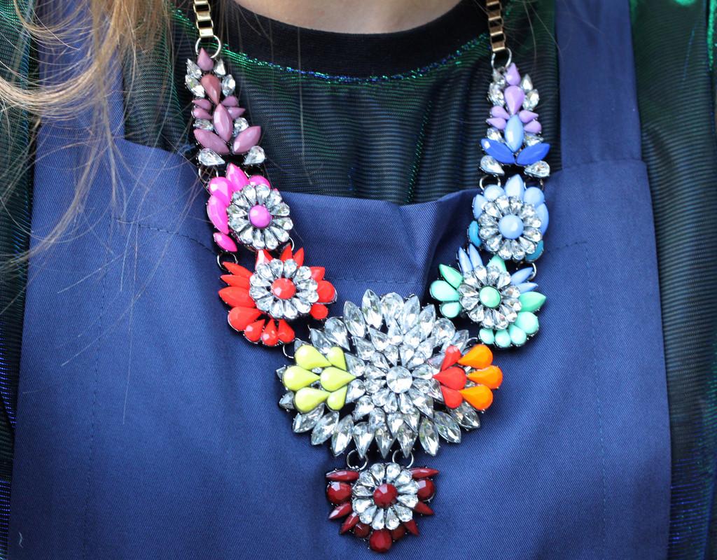 Embellished rainbow necklace