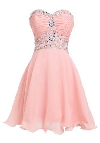 dress pink homecoming dresses homecoming dress short homecoming dress homecoming dress beads homecoming dress chiffon sweetheart mini homecoming dress