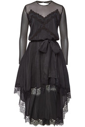 dress,silk dress,high,lace,silk,black