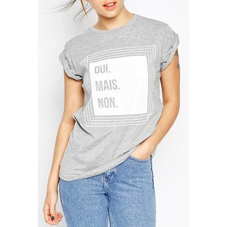 top grey french quote on it rose wholesale style streetwear