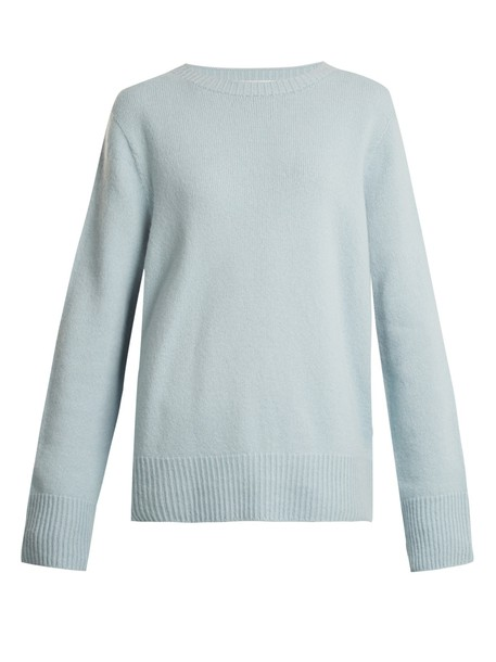 The Row sweater wool light blue light blue