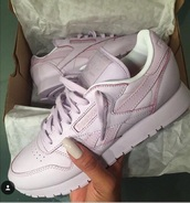 shoes,rose pink classic reeboks