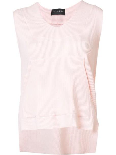 Baja East hoodie sleeveless women cotton purple pink sweater