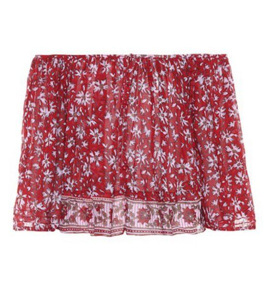 Poupette St Barth top cotton red