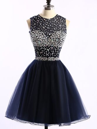 dress prom prom dress fashion style trendy sparkle sparkly dress crystal crystal dress shiny shiny dress bkue navy dressofgirl mini short short dress belt black tulle dress short homecoming dress beautiful navy dress
