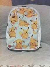 bag,pokemon,backpack,yellow,anime,white,kawaii,kawaii bag