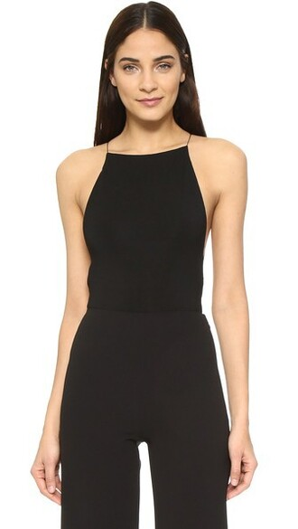 bodysuit cross back criss cross black underwear