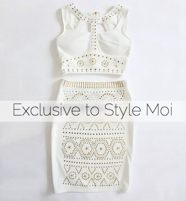 shirt white cool stylemoi cute two-piece summer outfits streetstyle