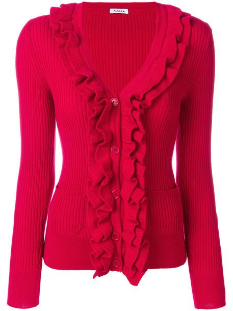 P.A.R.O.S.H. cardigan cardigan women wool red sweater