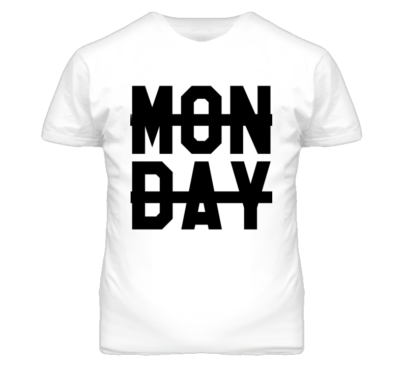 Monday Sucks Crossed Out Popular Graphic T Shirt
