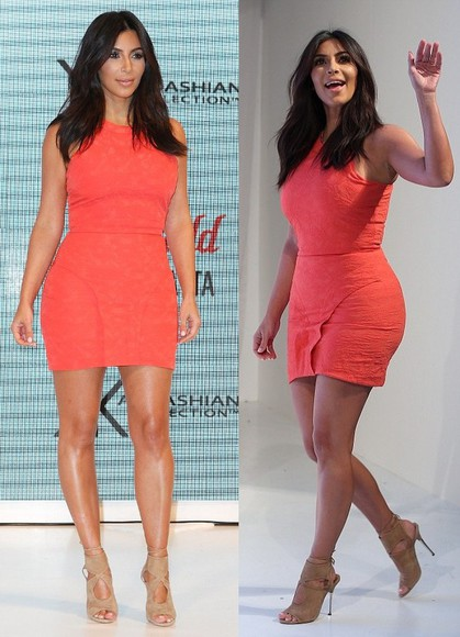 dress coral kim kardashian