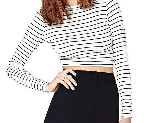 Basic striped crop top