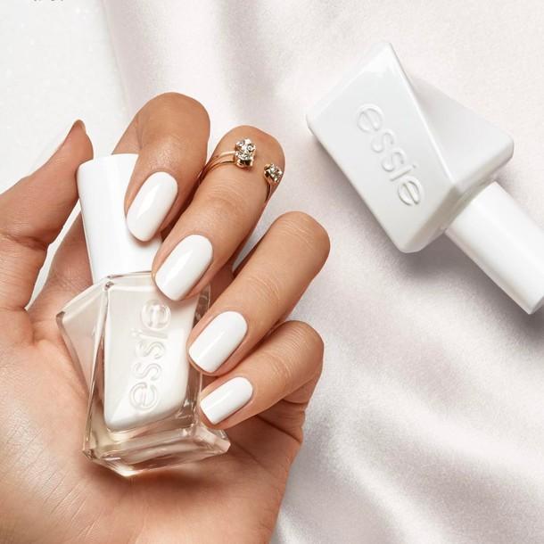 nail polish, tumblr, nail art, nails, white nails, essie, knuckle ...