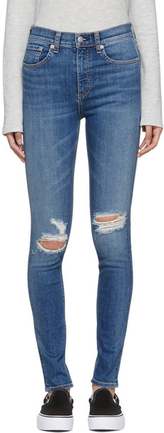 rag and bone jeans skinny jeans high blue
