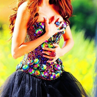 dress jewels prom dress gorgeous want want want! colorful dress amazing