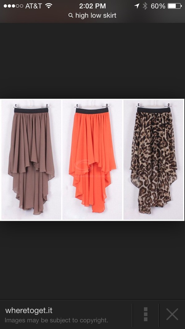 skirt brown or orange the chetaprint
