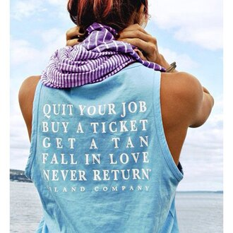 top blue summer tank top fashion refreshing back letter print loose tank top for women style beach comfy sporty rose wholesale-dec