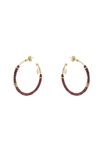 earrings gold leather jewels