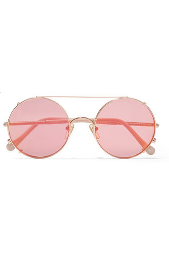 rose gold rose sunglasses mirrored sunglasses gold pink