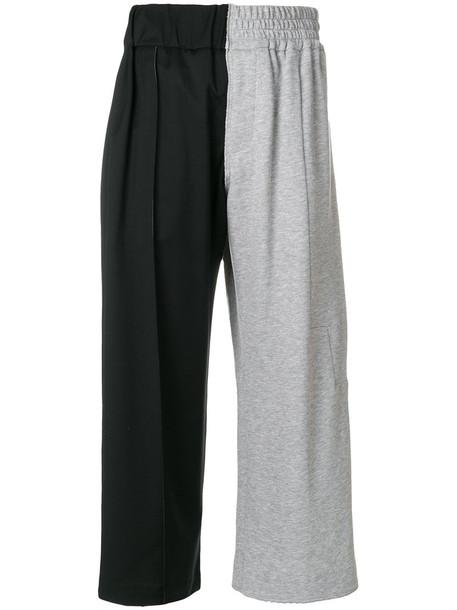 Vejas cropped women spandex cotton black wool pants