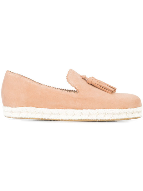 tassel women espadrilles leather suede purple pink shoes
